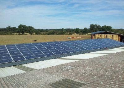 Serres agricoles avec panneaux solaires
